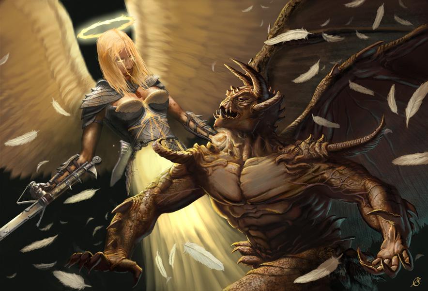 Demon vs angel by joe slucher