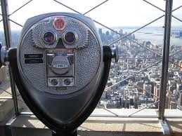 Empire state building binoculars