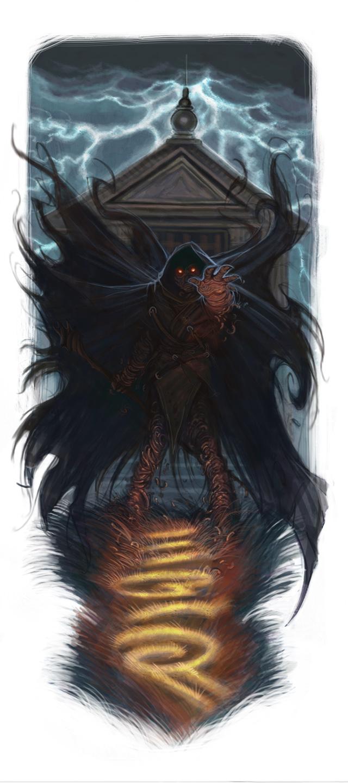 Shadowy spellcaster
