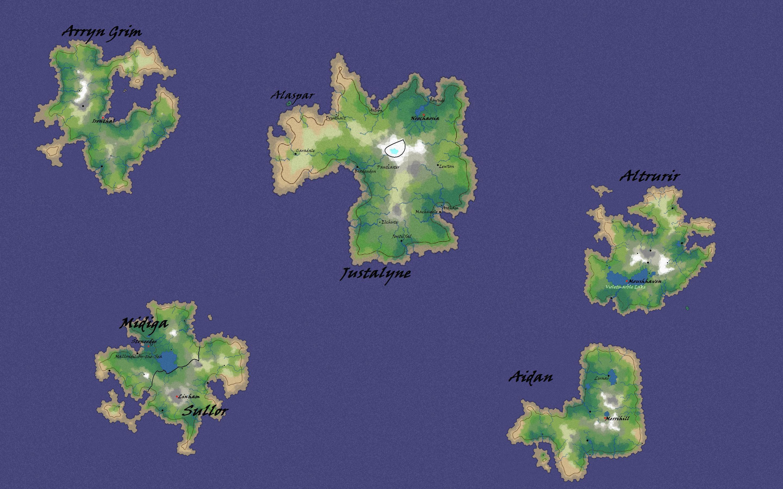 Landmass map 2b