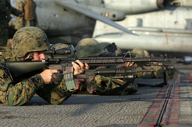 800px usmc m16 a4 rifle