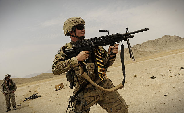 640px airman firing mk 48 near fob mehtar lam