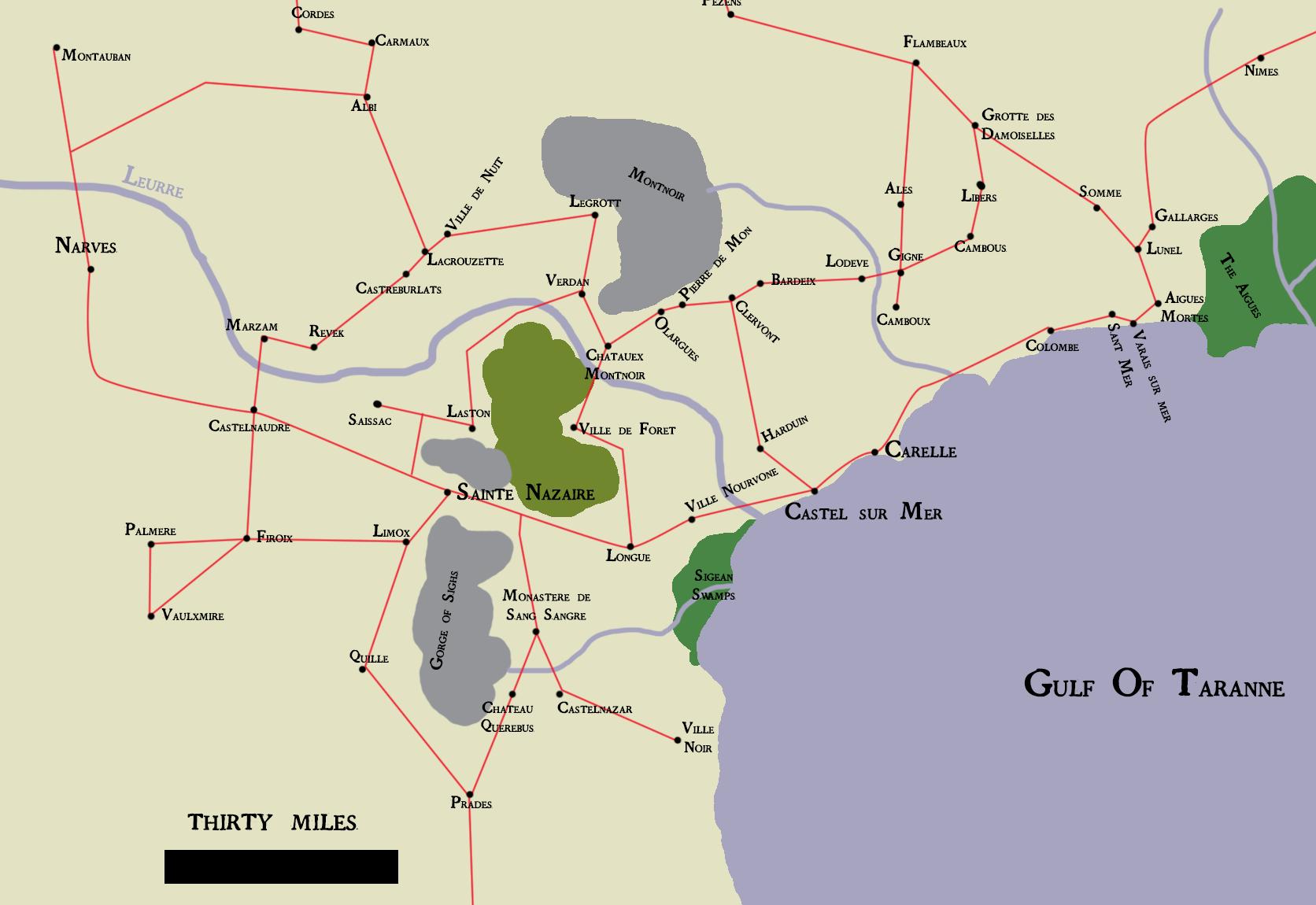Map of taranne