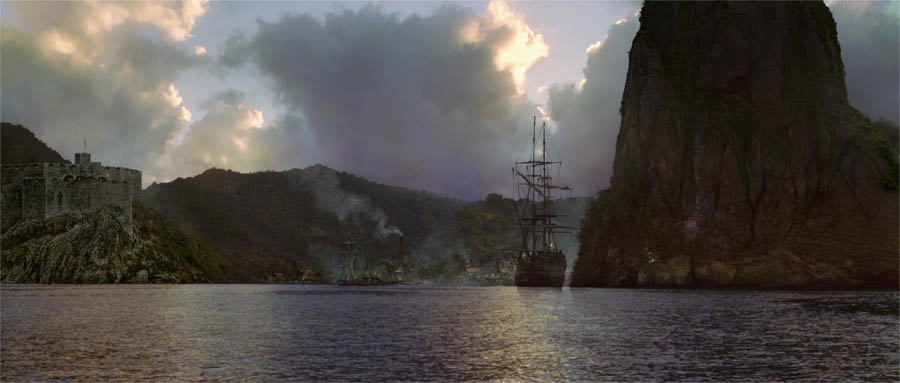 Pirates of the caribbean matte painting