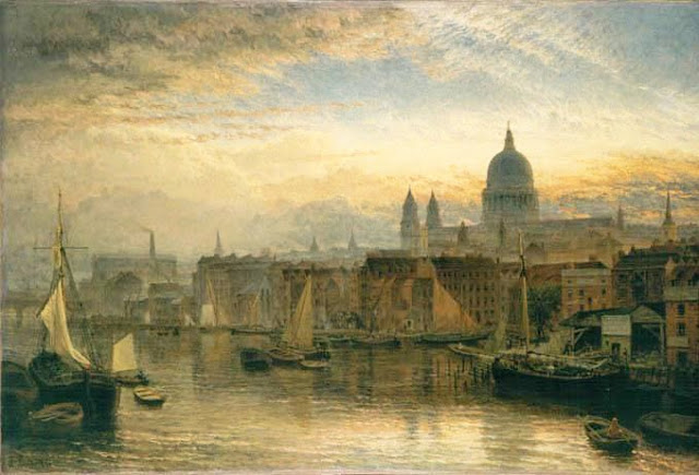 St. paul s from the river thames  1877