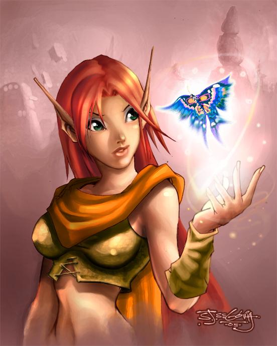 Elf girl by sjsegovia