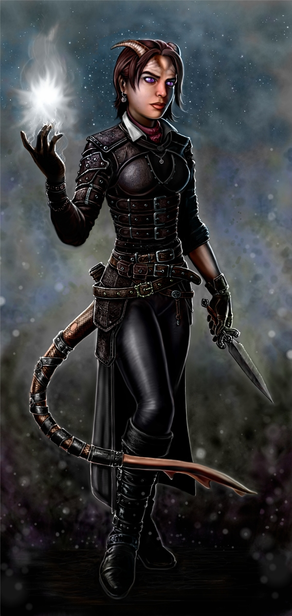 Tiefling Adventurer ready to raise some hell