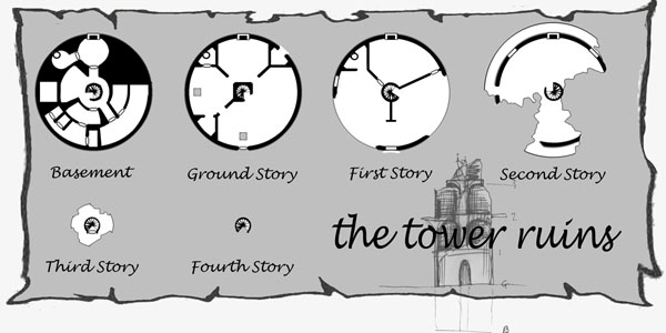 The tower ruin  sketch o pversion