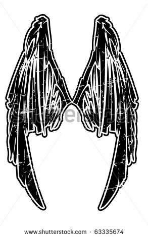 Stock vector black wing 63335674