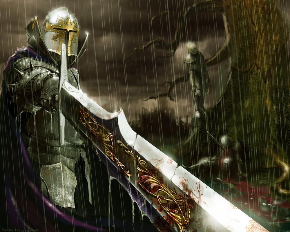 Dark medieval knight