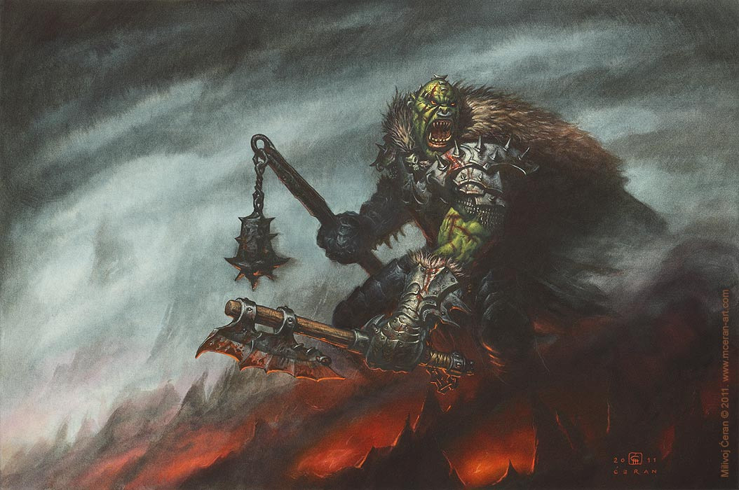 1054x700 11573 orc warrior 2d fantasy orc armor warrior picture image digital art