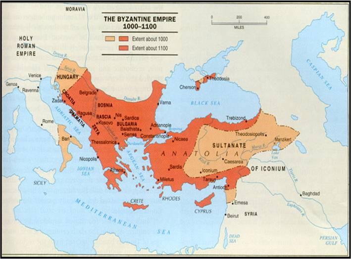 Byzantine empire 1000   1100
