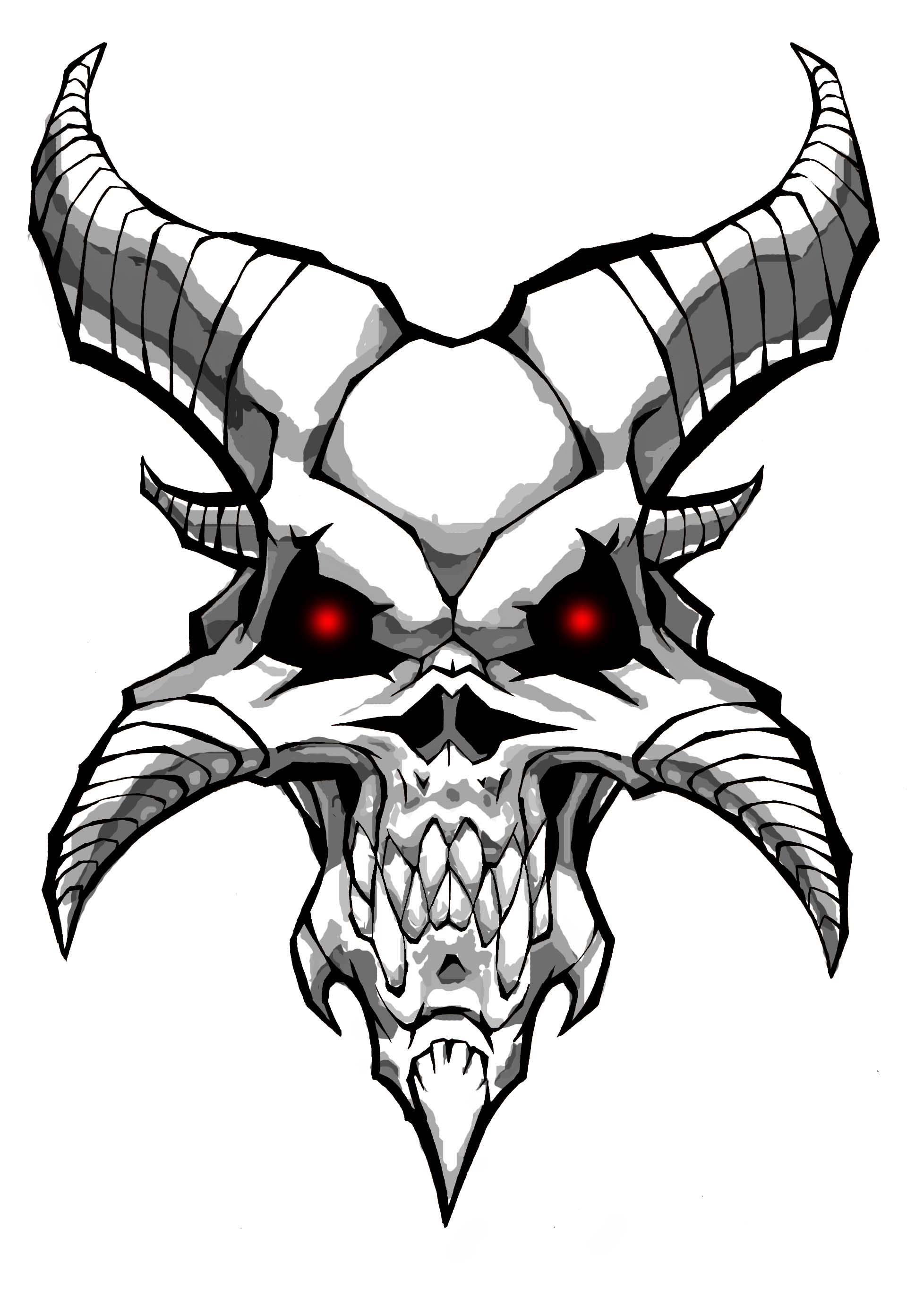 Demon skull by williamsquid