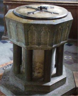 Bassingbourn church font