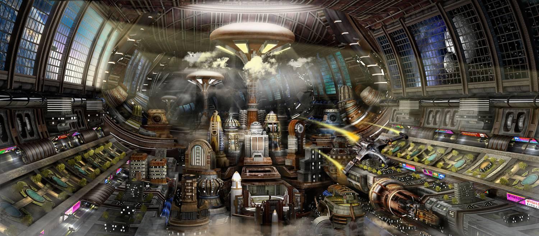 Orbital city by static vg