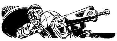 09 scifi gunner laser cannon aim