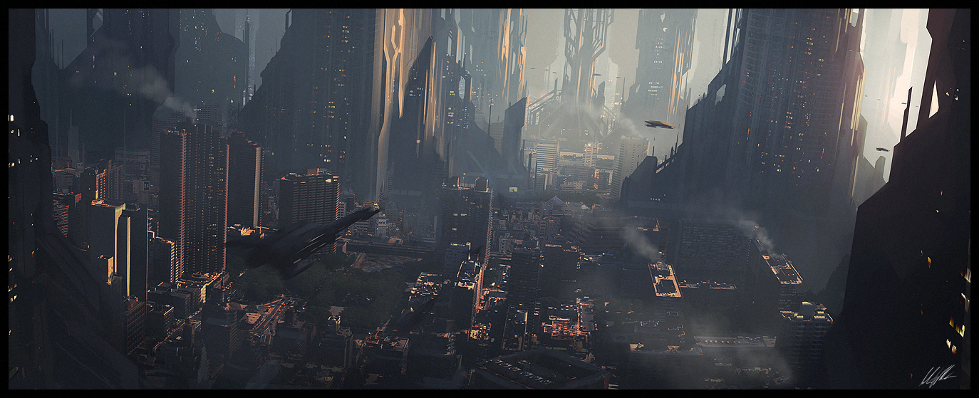 Scifi city speed 2 by andree wallin