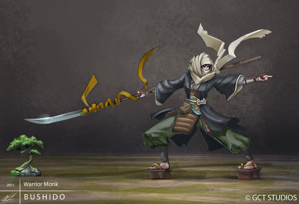 Bushido   warrior monk by dinmoney d4ygw3j