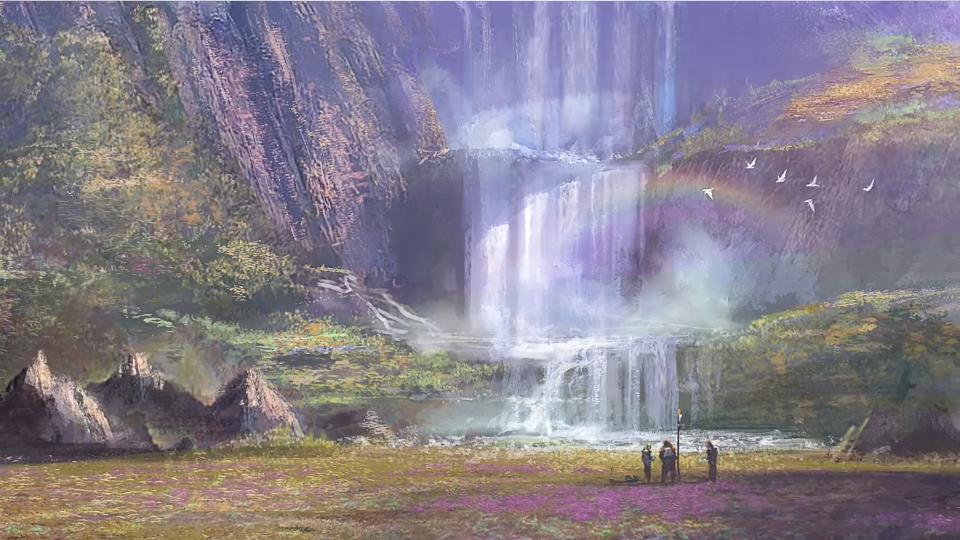Tython concept waterfalls