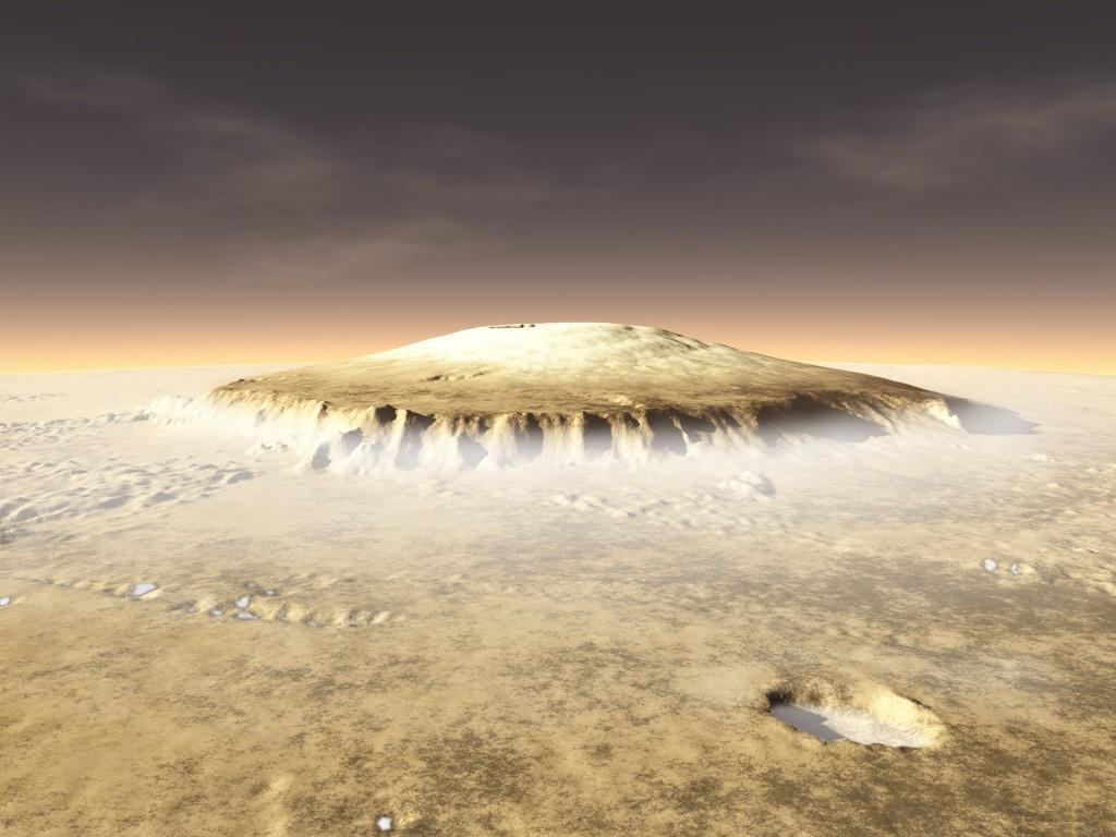1773 mars olympus mons foggy wallpaper