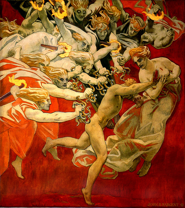 John singer sargent   orestes pursued by the furies   great art   mythology   peter cawford