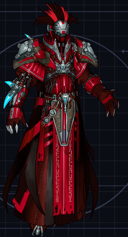 Red sith battle armor