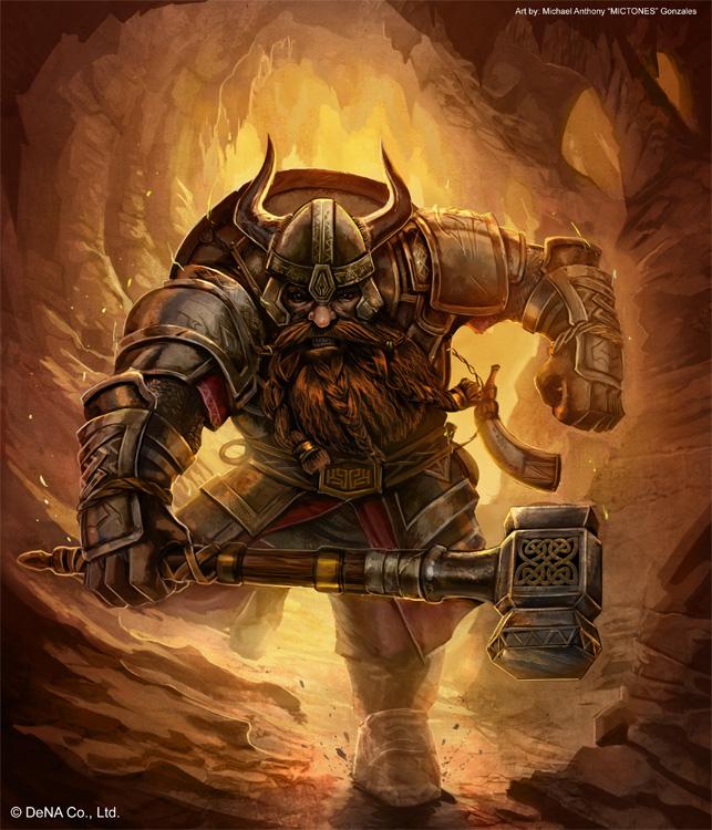Dwarven warrior by mictones d577r2f
