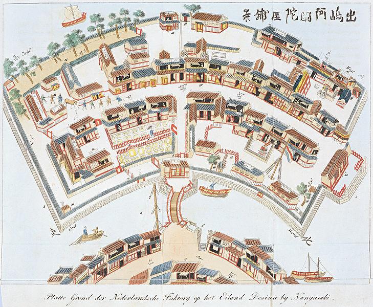 729px plattegrond van deshima
