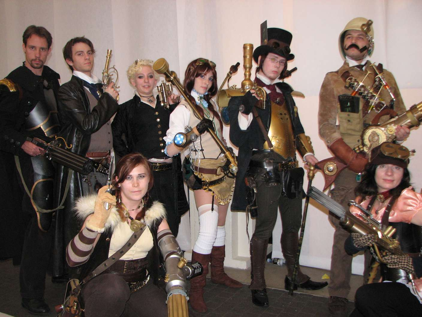 Group of steampunk people5