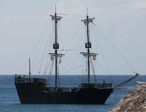 Black pearl at sea