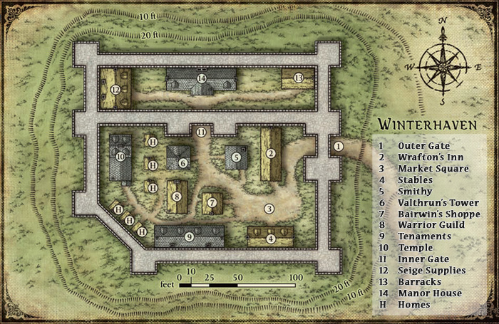 Winterhaven map small