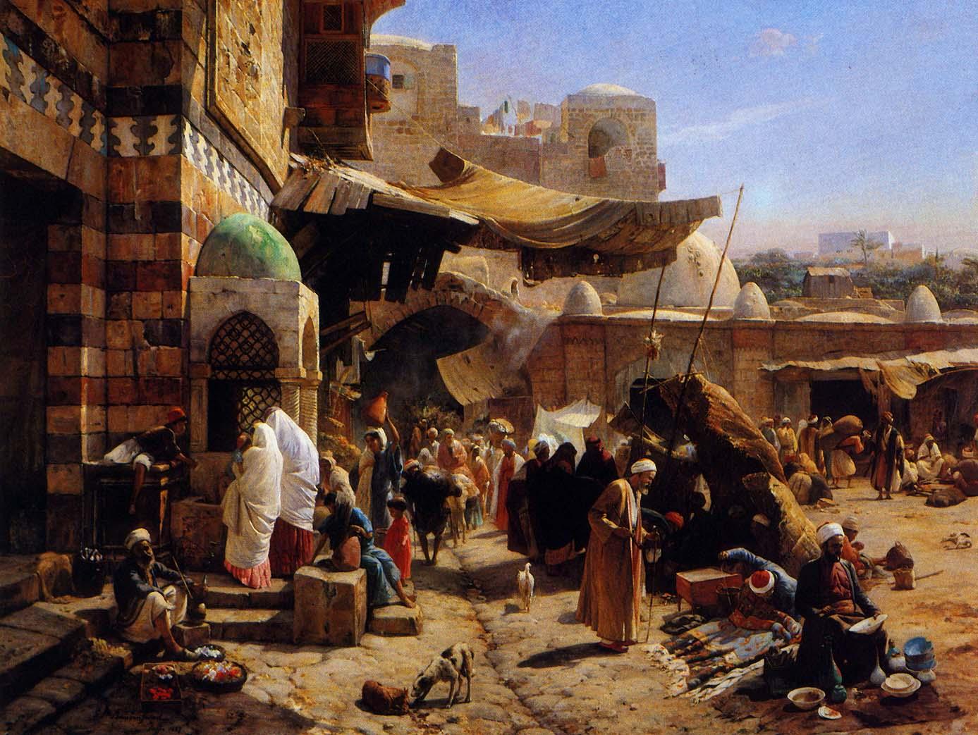 Markt jaffa gustav bauernfeind1887