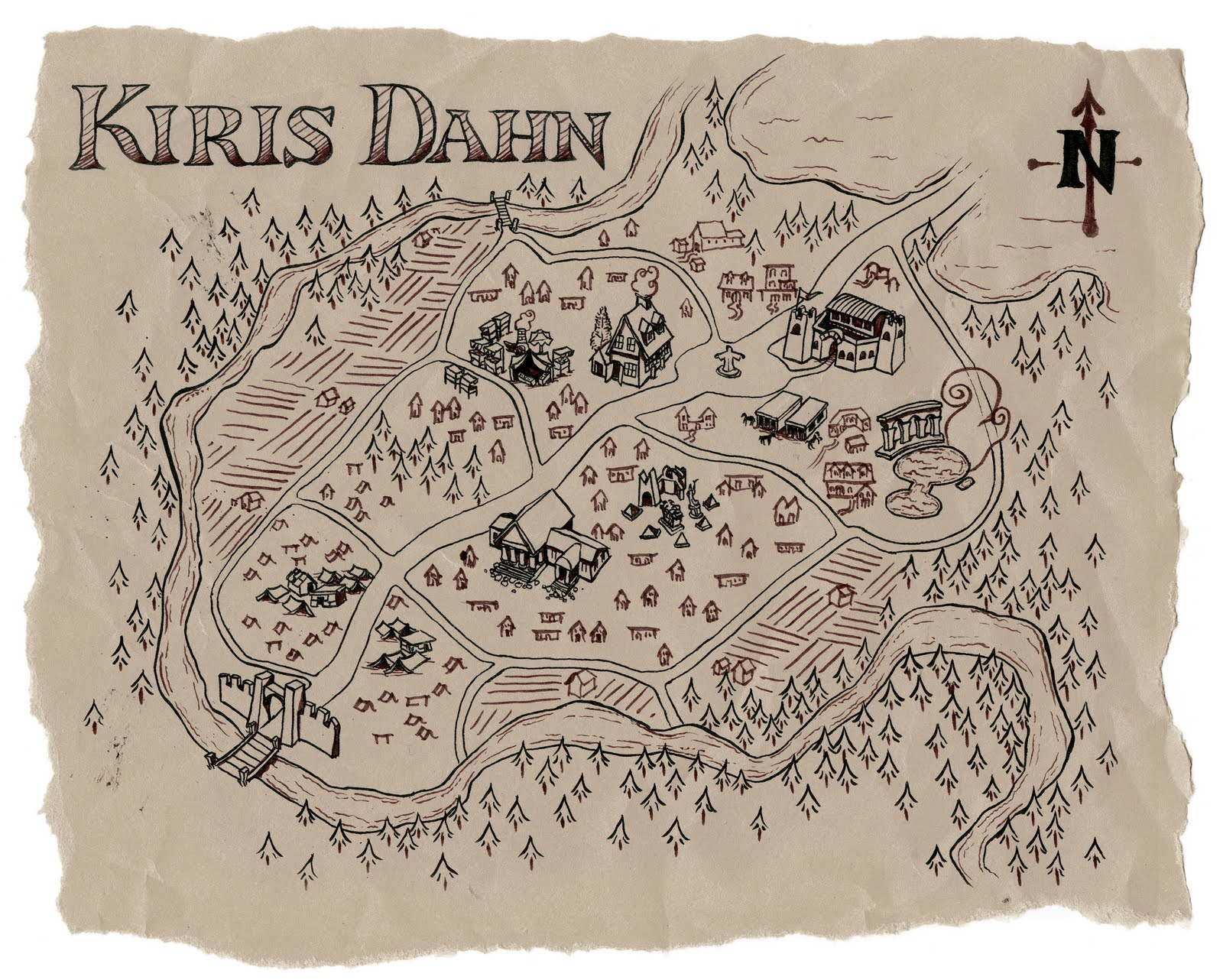 Kiris dahn map full size