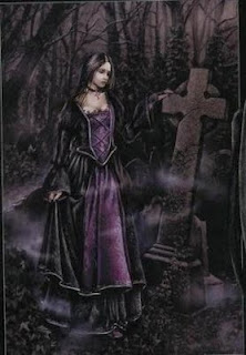 Goth cemetery girl 303x436