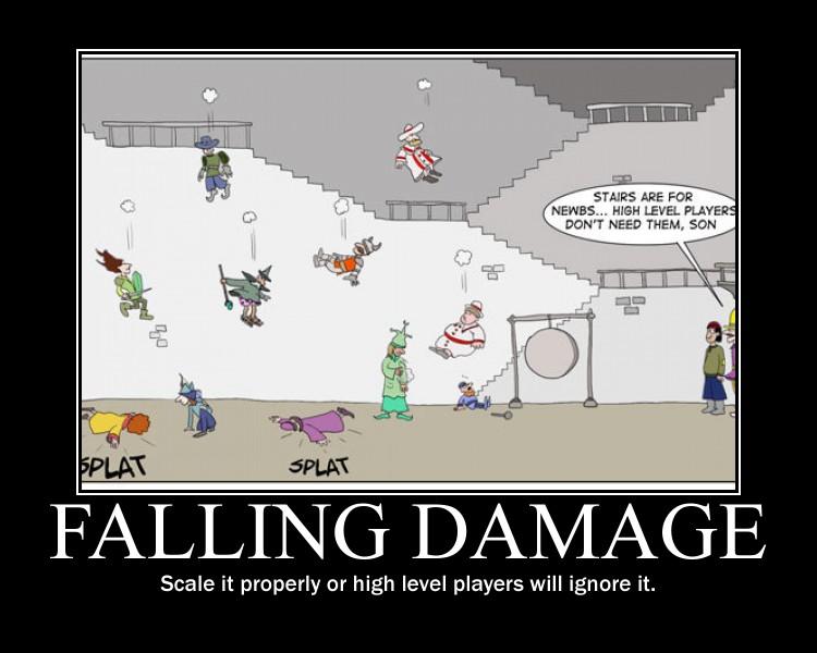 Falling damage