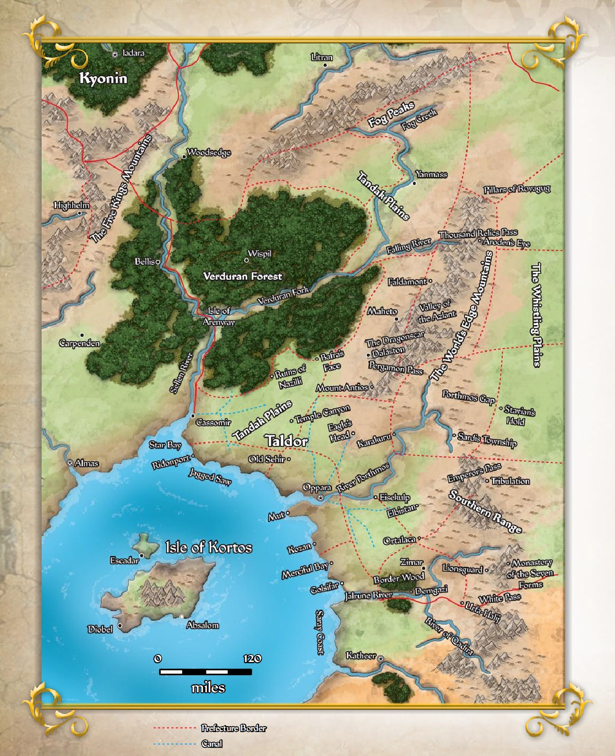 Map of taldor