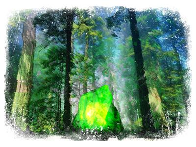 Nodo cristal verde 2