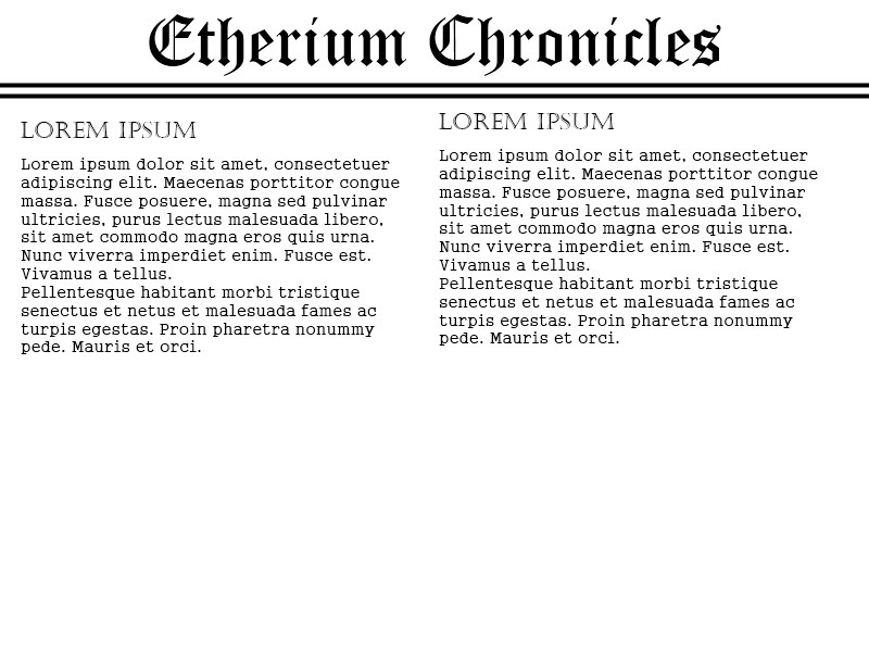 Etherium chronicles maket