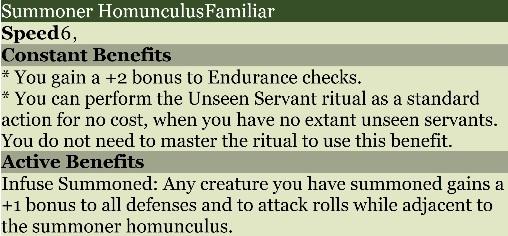 Summoner homunculus