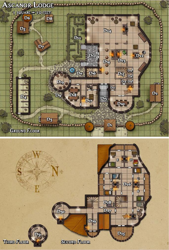 Ascanor lodge carrion crown kyle 39 s obsidian portal for House plan maps free