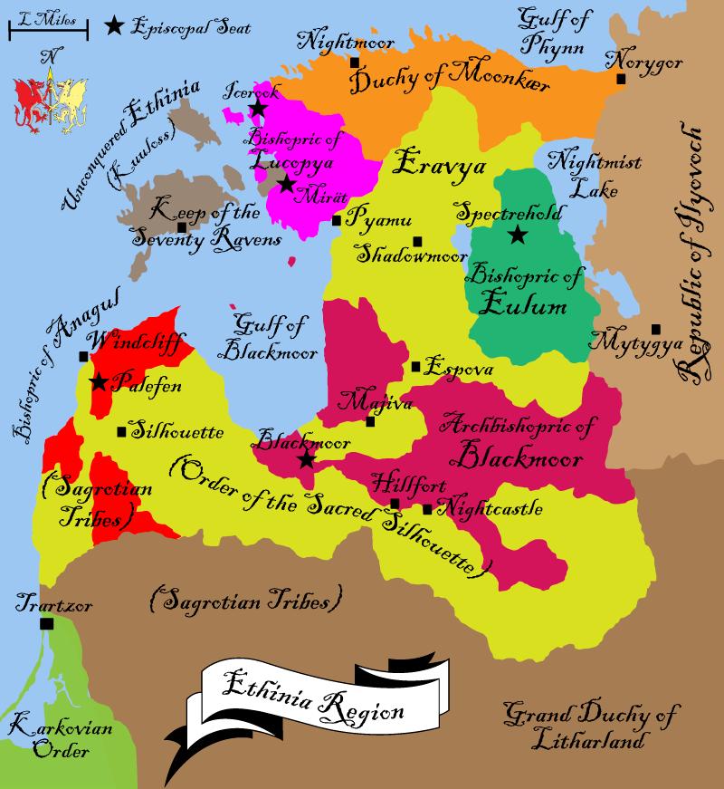 Map of ethinia 1