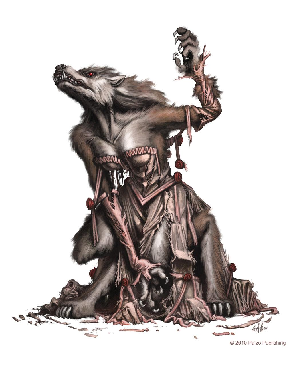 Female werewolf by christopherburdett d2jdcg2