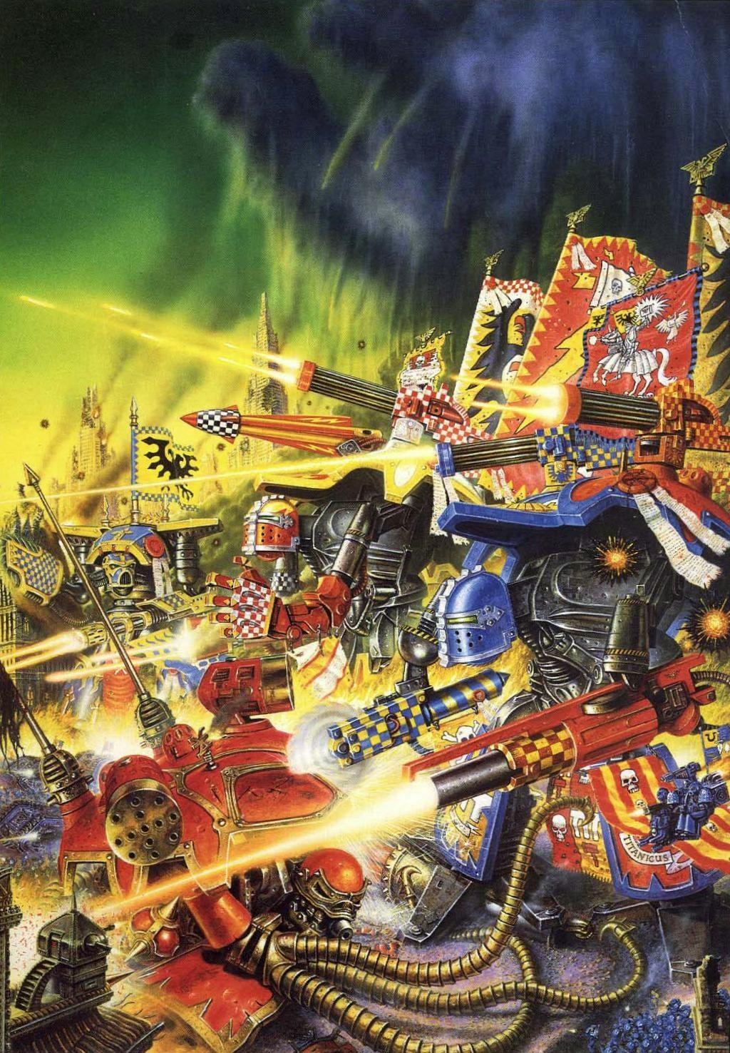 Battle line of imperial titans