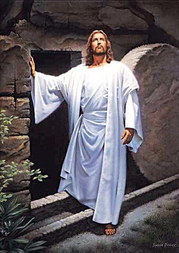 Jesus at tomb