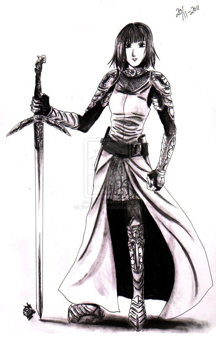 Female warrior by somnusluna d4kw1cu
