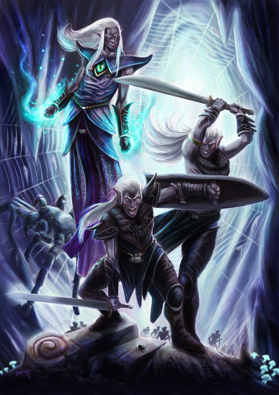 Drow in battle