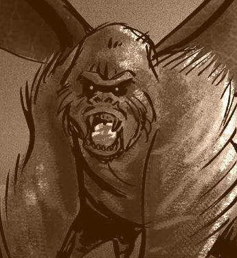 Flying vampire gorilla