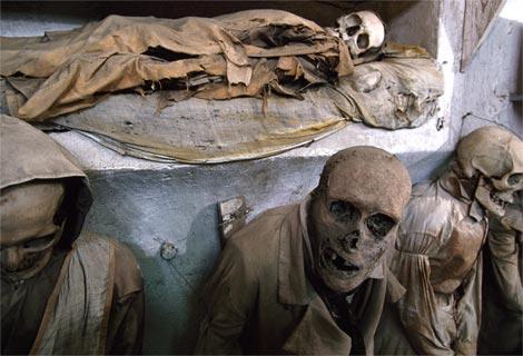Crypt capuchin mummies