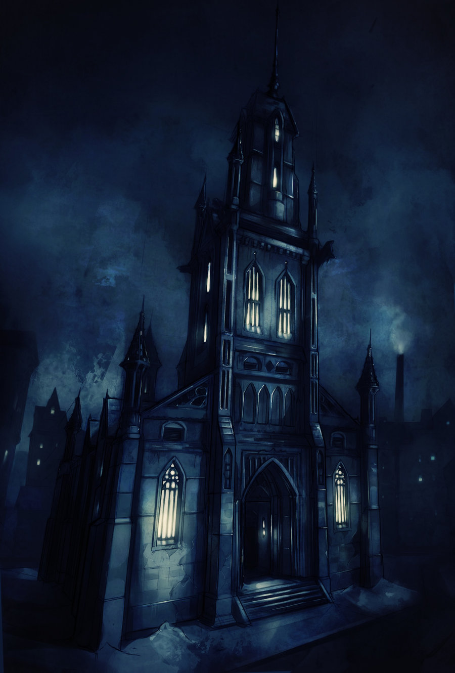 Fantasy church by viijigsaw d4qhs0l