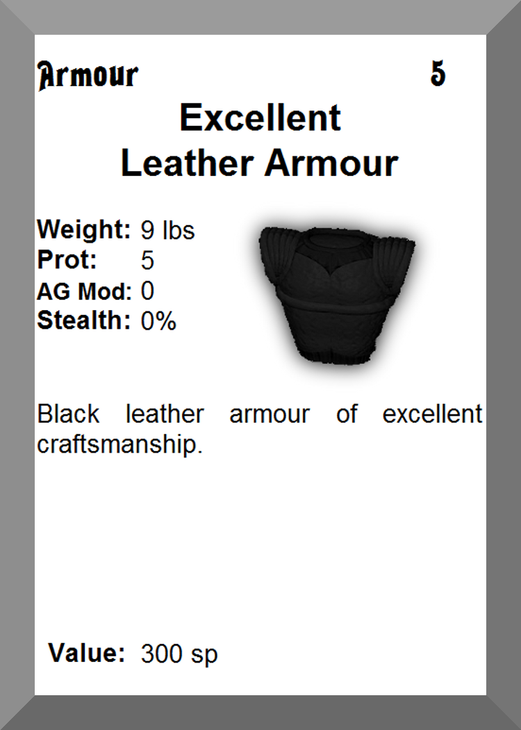 Leather armour excellent